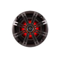 "Kicker KM654LCW KM 6.5"" LED Lit Coaxial Marine Speaker"