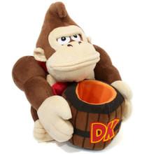 "Donkey Kong & Barrel - Super Mario Bros 8"" Plush (San-Ei) 1351"