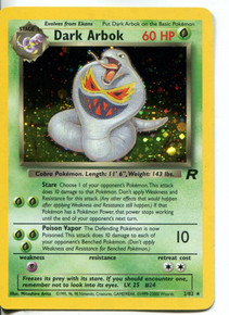 Dark Arbok Team Rocket Set Holo-Foil 2/82 Pokemon Card Good