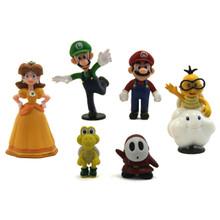 Mario, Daisy, and Friends - Super Mario Mini Figures 6 Pack