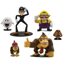 Wario, Waluigi, and Friends - Super Mario Mini Figures 6 Pack