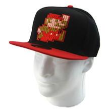 8-Bit Mario - Super Mario Bros. Snapback Cap Hat