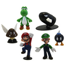 Mario, Bullet Bill, and Friends - Super Mario Mini Figures 6 Pack