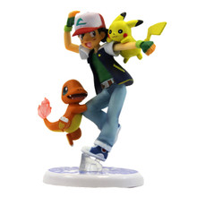 "Ash with Pikachu and Charmander - Pokemon 4"" Action Figure"
