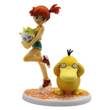 "Misty with Togepi and Psyduck - Pokemon 4"" Action Figure"