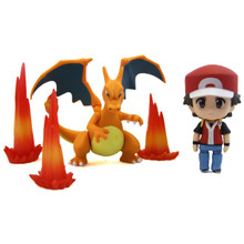 "Red with Charizard - Pokemon 3"" Droid Action Figure"