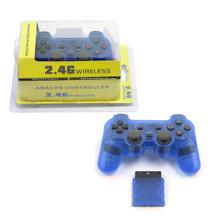 PS2 2.4 GHz Wireless OG Controller Pad - Clear Blue (Hexir)