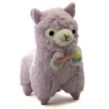 "Purple with Bow - 7"" Alpaca Plush"