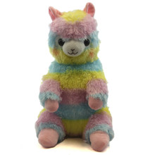 "Sitting Rainbow - Alpaca 16"" Plush"