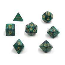Set of 7 Tabletop Gaming Dice - Assorted Colors
