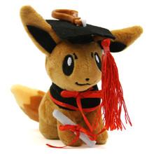 """Graduation Eevee - Pokemon 4"""" Plush"""