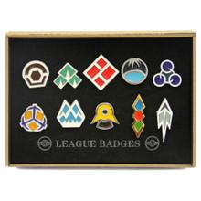 Sinnoh and Unova League - Pokemon Badge Set 10 Pcs.