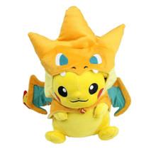 "Pikachu with Mega Charizard Y hat Smile - Pokemon 8"" Plush"