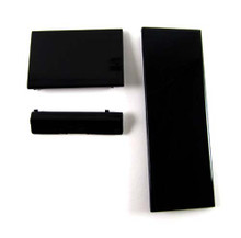 Wii 3 pack Console Door Covers Replacement - Black