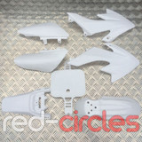 CRF50 STYLE PITBIKE PLASTIC SET - WHITE (WITHOUT SEAT PAD)