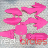 CRF50 STYLE PITBIKE PLASTIC SET - PINK (WITHOUT SEAT PAD)