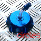 PITBIKE ALLOY FUEL CAP - BLUE