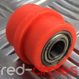 10mm RIDGED PIT BIKE CHAIN ROLLER - ORANGE