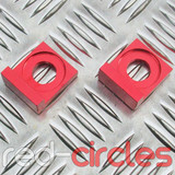 15mm BLOCK PITBIKE CHAIN TENSIONERS - RED