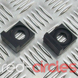 15mm BLOCK PITBIKE CHAIN TENSIONERS - BLACK