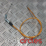 90cm ANGLED PITBIKE THROTTLE CABLE - GOLD