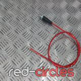 90cm STRAIGHT PITBIKE THROTTLE CABLE - RED
