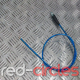 90cm STRAIGHT PITBIKE THROTTLE CABLE - BLUE