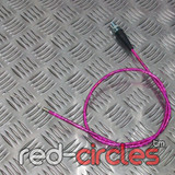 90cm STRAIGHT PITBIKE THROTTLE CABLE - PINK