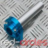 CNC QUICK ACTION PITBIKE THROTTLE - BLUE