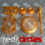 CRF50 STYLE PITBIKE BLING KIT - GOLD (SCREW IN VALVE COVERS)