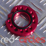 CNC PITBIKE / ATV CARBURETTOR SPINNER PLATE - RED