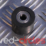 10mm PITBIKE RUBBER CHAIN ROLLER - BLACK