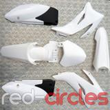 TTR STYLE PITBIKE PLASTICS SET - WHITE