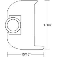 TACO Flex Vinyl Rub Rail Kit - White w\/White Insert - 50'