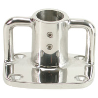 "Whitecap 4 Degree Rectangular Base - 316 Stainless Steel - 3-1\/2"" x 3"""