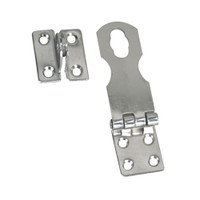 "Whitecap Fixed Safety Hasp - CP\/Brass - 1"" x 3"""
