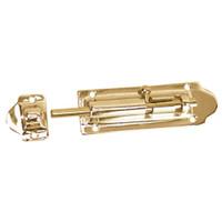 "Whitecap Barrel Bolt - Polished Brass - 4"""