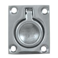 "Whitecap Flush Pull Ring - CP\/Brass - 1-1\/2"" x 1-3\/4"""