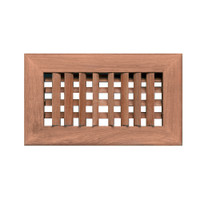 "Whitecap Teak Air Conditioning Vent - 9-3\/4"" x 5-3\/4"" x 1-1\/2"""