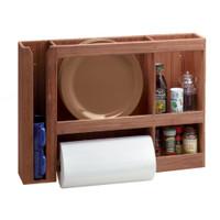 Whitecap Teak Dish\/Cup\/Paper Towel Rack
