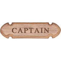 "Whitecap Teak ""CAPTAIN"" Name Plate"