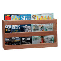 Whitecap Teak Double-Wide Magazine Rack