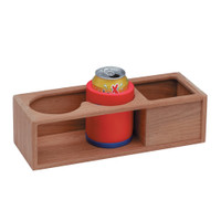 Whitecap Teak Two Insulated Drink\/Binocular Rack w\/Tray