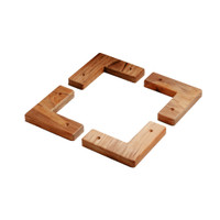 Whitecap Teak Cooler\/Box Chocks - 4 Pack