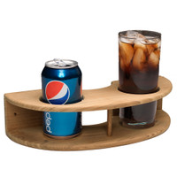 Whitecap Teak Curved Two-Drink Rack