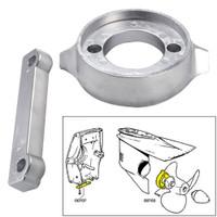 Tecnoseal Anode Kit w\/Hardware - Volvo 280 - Zinc
