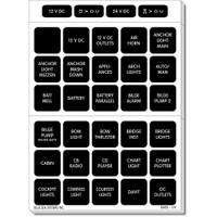 Blue Sea 4217 Square Format Label Set - 120