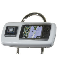 "NavPod GP1040-02 SystemPod Pre-Cut f\/Garmin 4008\/4208 & 1 Instrument f\/9.5"" Wide Guard"