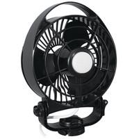 "Caframo Maestro 12V 3-Speed 6"" Marine Fan w\/LED Light - Black"