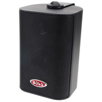 "Boss Audio MR4.3B 4"" 3-Way Marine Enclosed System Box Speaker - 200W - Black"